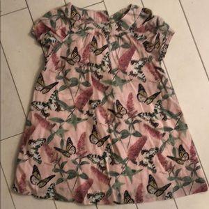 Baby gap pink crepe dress